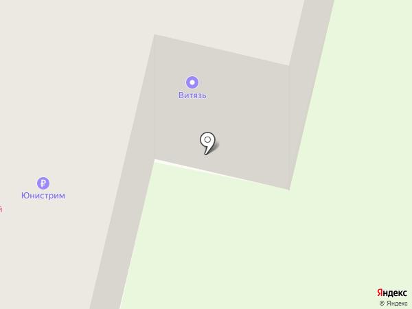 Витязь на карте Братска