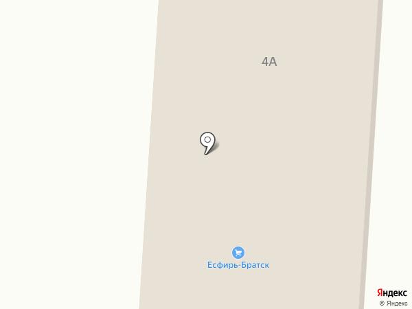 Есфирь на карте Братска