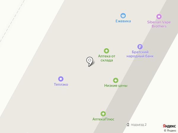 Портал на карте Братска