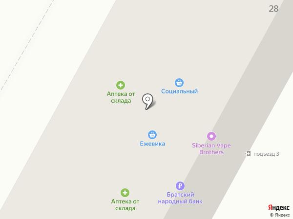 Ежевика на карте Братска