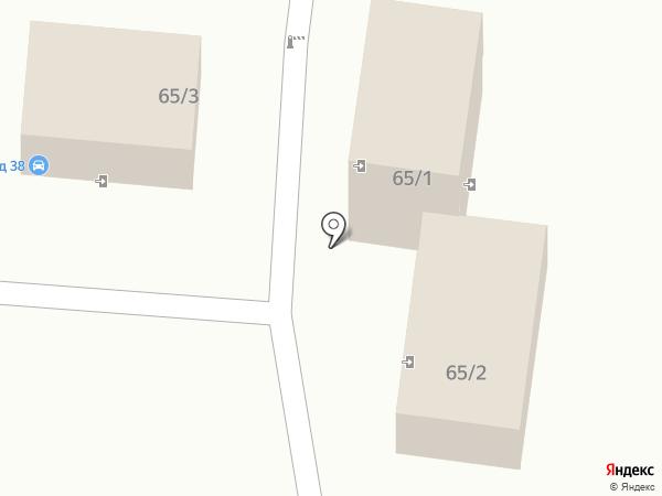 Автостоянка на ул. Гагарина на карте Братска