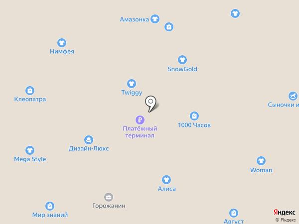 Северный на карте Братска