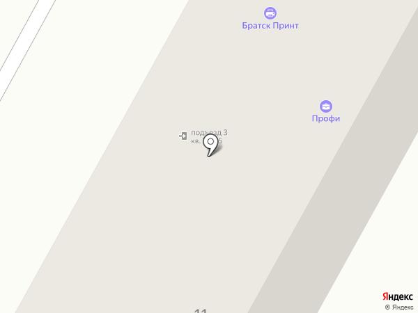 Братск Принт на карте Братска