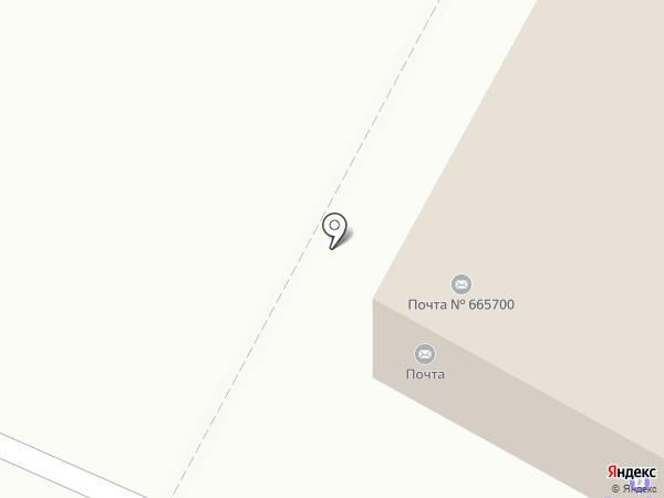 Почтовое отделение №665700 на карте Братска
