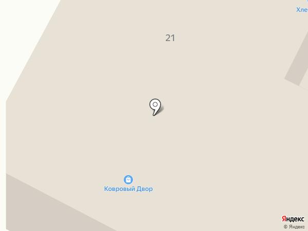 Ковровый Двор на карте Братска