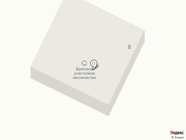 Братское участковое лесничество на карте Братска