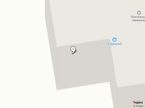 У-Дачный на карте Братска