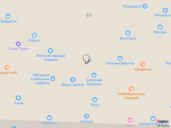 Мишутка на карте Братска