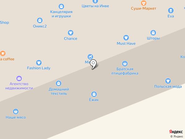 Платный общественный туалет на карте Братска
