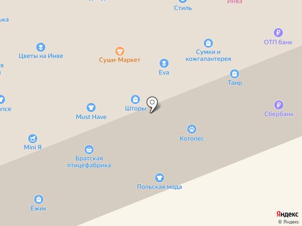 Добрый лис на карте Братска