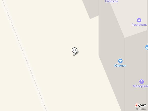 Юничел на карте Братска