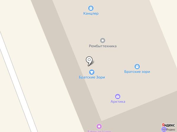 Мастерская по ремонту часов и бытовой техники на карте Братска