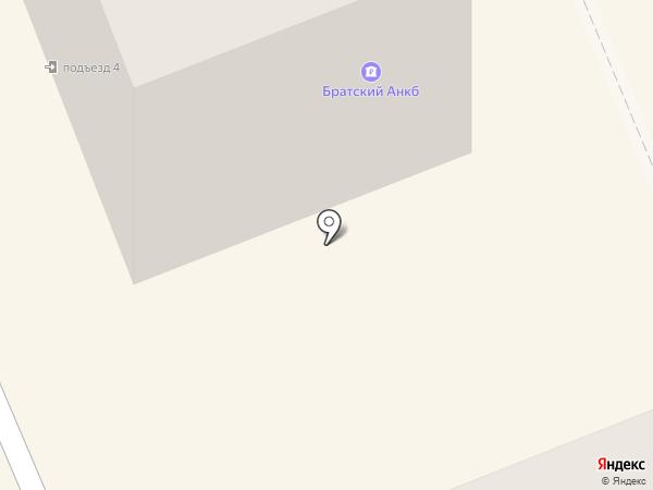 Братский акционерный народный коммерческий банк, ПАО на карте Братска