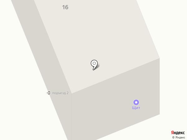 Щит на карте Братска