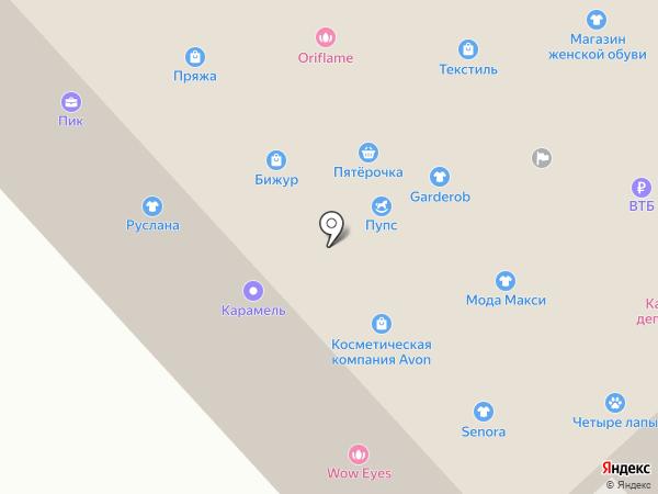 Экран плюс на карте Братска