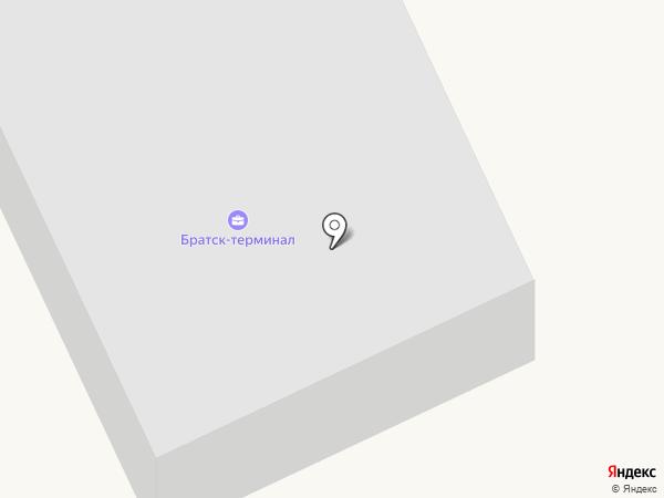 Братск-терминал на карте Братска