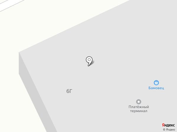 Бамовец на карте Братска