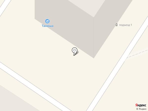 Танюша на карте Ангарска