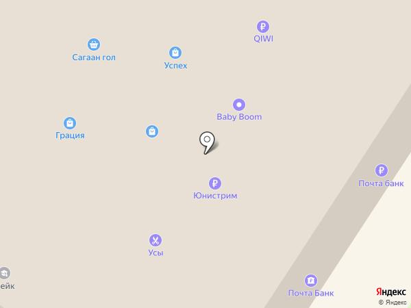 Линер на карте Ангарска