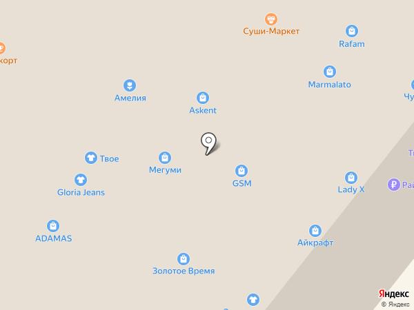 Диадема на карте Ангарска