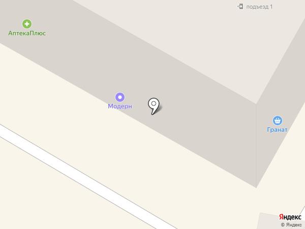 Модерн на карте Ангарска