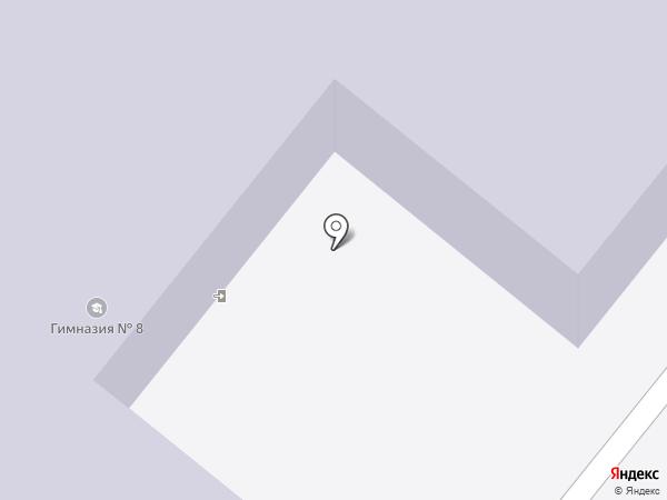Гимназия №8 с дошкольным отделением на карте Ангарска