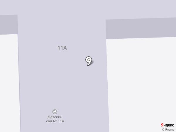 Детский сад №114 на карте Ангарска
