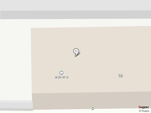 ЖЭУ №6 на карте Ангарска