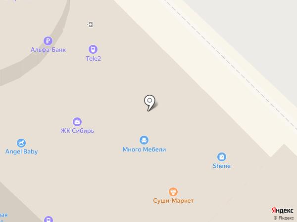 Лорнет на карте Ангарска