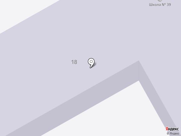 Средняя общеобразовательная школа №39 на карте Ангарска