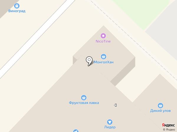 Октябрьский на карте Ангарска
