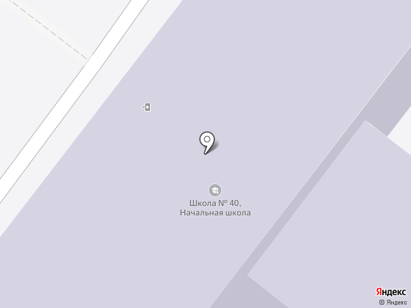 Средняя общеобразовательная школа №40 на карте Ангарска