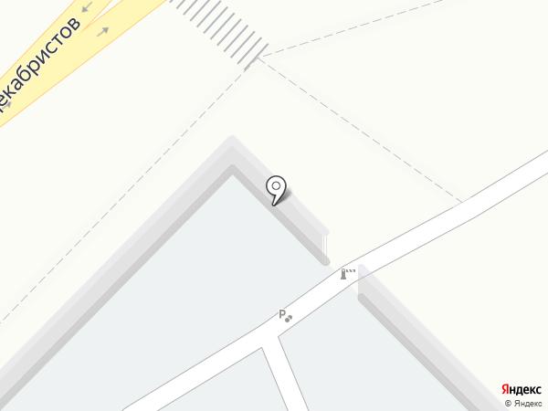 Центральная автостоянка на карте Ангарска