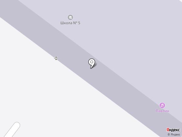 Средняя общеобразовательная школа №5 на карте Ангарска