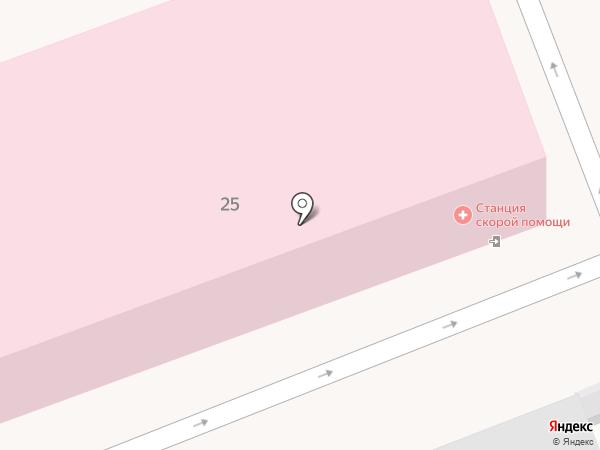 Городская станция скорой медицинской помощи на карте Ангарска
