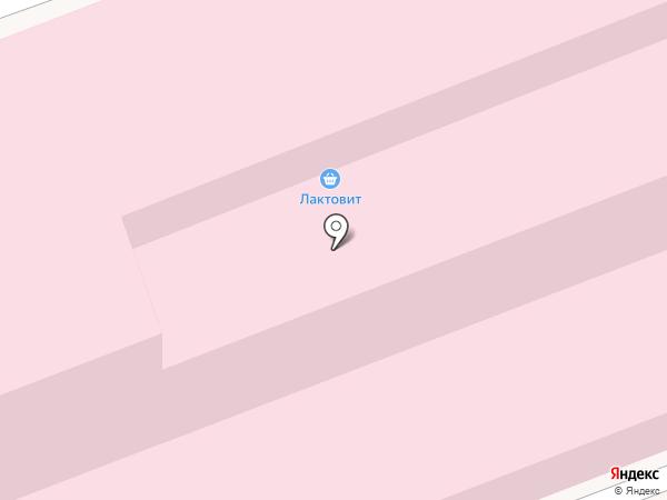 Лактовит на карте Ангарска