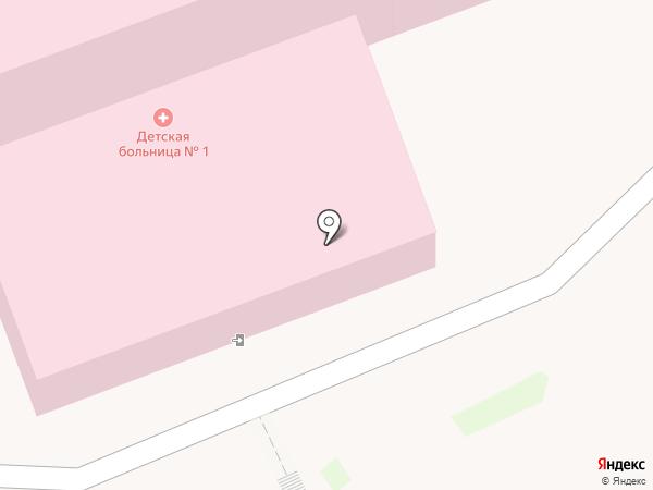 Городская детская больница №4 на карте Ангарска