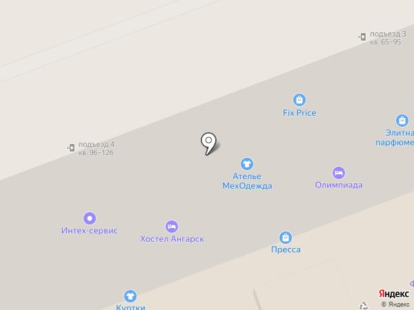 Грация на карте Ангарска