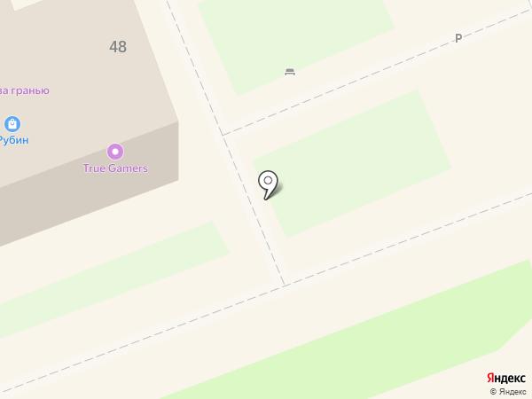Рубин на карте Ангарска
