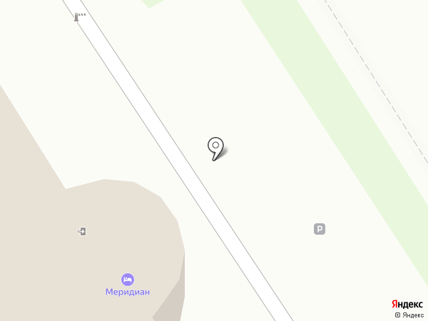 Меридиан на карте Ангарска