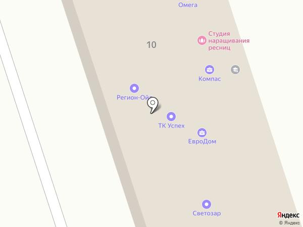 Омега на карте Ангарска