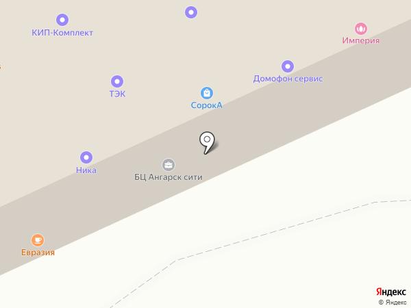 Воронеж-Аква на карте Ангарска