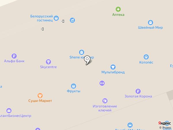 Сомбреро на карте Ангарска