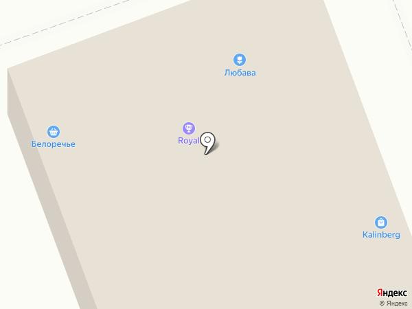 Белореченское на карте Ангарска