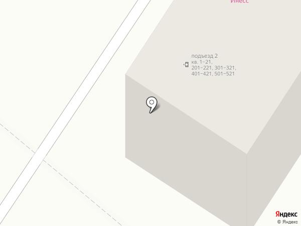 Инесс на карте Ангарска