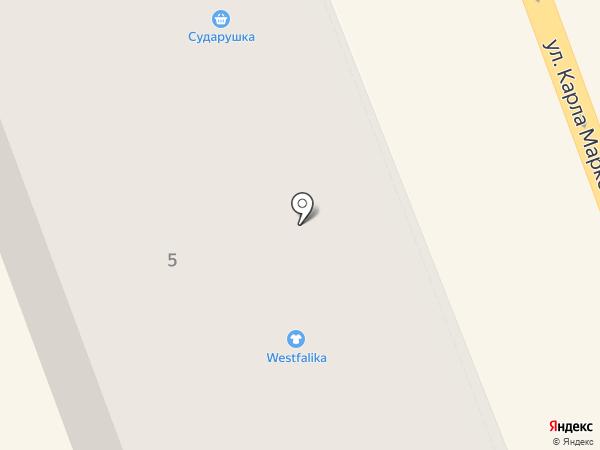 Сударушка на карте Ангарска