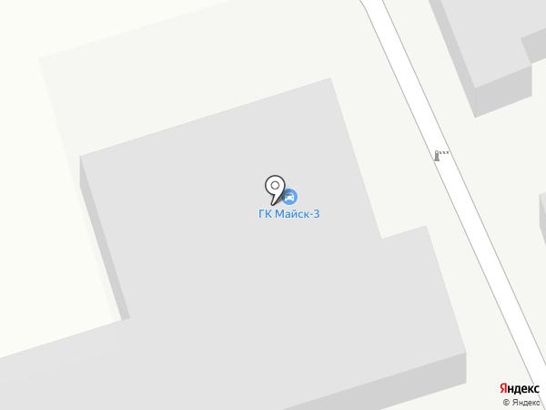 Майск 3 на карте Ангарска