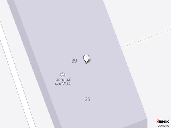 Детский сад №32 на карте Ангарска
