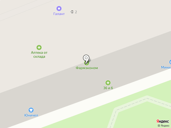 Мини Галант на карте Ангарска