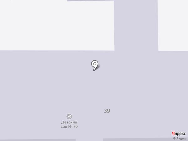 Детский сад №70 на карте Ангарска